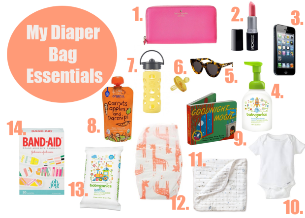 Diaper Bag Essentials Collage